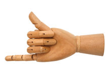 Wooden hand isolated Royalty Free Stock Photo