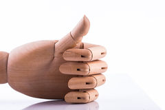 Wooden hand Stock Photography