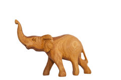 Wooden hand made elephant Royalty Free Stock Photos