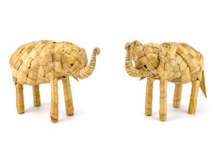 Wooden hand made elephant Stock Images