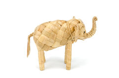 Wooden hand made elephant Royalty Free Stock Photo