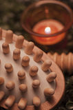 Wooden Hand Massager. Hand massager used for skincare & skin massage or wellness Stock Photos