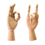 Wooden hand Stock Image