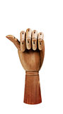 Wooden Hand Royalty Free Stock Photo