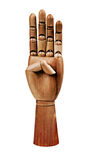 Wooden Hand Royalty Free Stock Photography