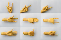 Wooden hand on white background Stock Photography