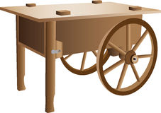 Wooden handcart illustration Royalty Free Stock Photography