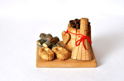 Wooden handicraft symbol of full-fledged life Stock Photo