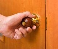 Wooden handle Stock Photo