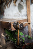 Wooden Handle Royalty Free Stock Photos