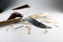 The wooden handle knife. Stock Photography