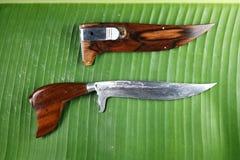 The wooden handle knife. The wooden handle knife,Thailand Stock Photos