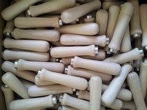 Wooden handles Stock Image