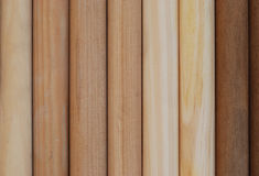 Wooden handles in row Stock Image
