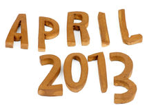 April 2013 Royalty Free Stock Photography