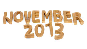 November 2013 Royalty Free Stock Images