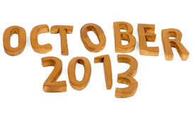 October 2013 Stock Photo