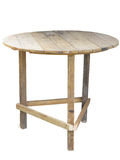 Wooden handmade outdoor table isolated over white Royalty Free Stock Image