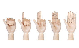 Wooden hands Stock Image