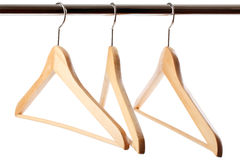 Wooden hanger Royalty Free Stock Images