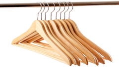 Wooden hanger Royalty Free Stock Image