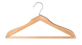 Wooden hanger Stock Photography