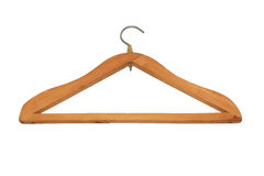Wooden hanger Royalty Free Stock Photography