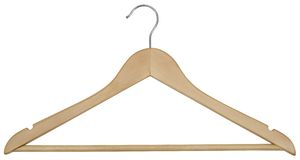 Wooden Hanger. Hand made clipping path included Stock Photos