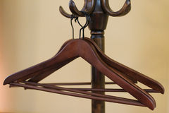 Wooden hanger Stock Image
