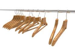 Wooden hanger Royalty Free Stock Photos