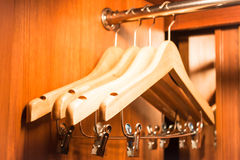Wooden hanger Stock Photography