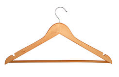 Wooden hanger isolated Royalty Free Stock Images