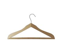 Wooden hanger isolated on white background. A vector Illustration Royalty Free Stock Photos