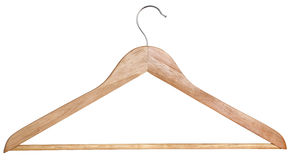 A wooden hanger Stock Photography