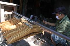 Wooden hangers Stock Photos