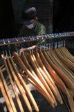 Wooden hangers Stock Image