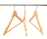 Wooden hangers Royalty Free Stock Photography