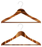 Wooden hangers Royalty Free Stock Photos