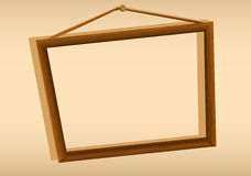 A wooden hanging frame Stock Photos