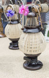 Wooden hanging lamp  Thai style Royalty Free Stock Image