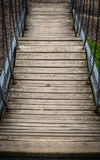 Wooden hanging path Stock Image
