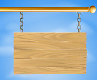 Wooden hanging sign Stock Photography
