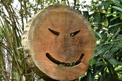 Wooden happy face Royalty Free Stock Photos
