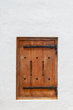 Wooden hatch window in a historic Cape Dutch building Royalty Free Stock Image