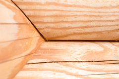 Wooden hause. sectioned log. Stock Photos