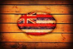 Wooden Hawaii flag. Hawaii flag on brown wooden planks royalty free stock photos
