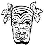 Wooden Hawaiian mask Stock Photography