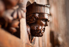 Wooden head on the door. Of Santa Croce Cathedral Florence Italy ... The Basilica di Santa Croce (Basilica of the Holy Cross) is the principal Franciscan church Stock Photos