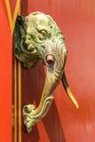 Wooden head of Elephant Stock Photography