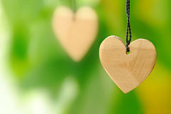 Wooden heart Royalty Free Stock Images